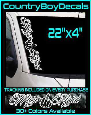 """18/"""" Windshield Vinyl Decal Sticker Chevy Ford PS27 Dirty Money 3 Pack"""