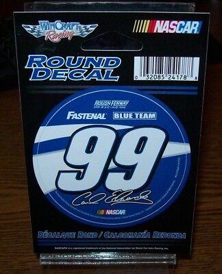 Carl Edwards  99 Fastenal 2012 Wincraft 3  Round Decal Sticker