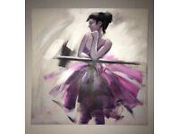 Ballerina wall canvas