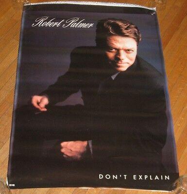 "VINTAGE ROBERT PALMER BIG 36"" X 24"" POSTER FOR ""DON'T EXPLAIN"" 1990 EMI RECORDS"