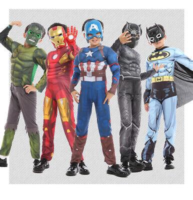 Superhero Costumes Childrens (Childrens Kids Boys Marvel DC Superhero Suits Halloween Costumes Cosplay)