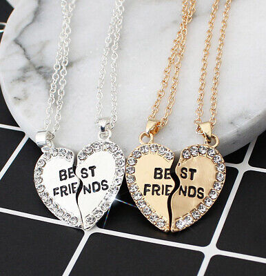 Gold  Friends  Chain  For  Best  Friendship  Pendant  BFF  Crystal