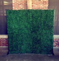 Green Grass Boxwood Wall Rental