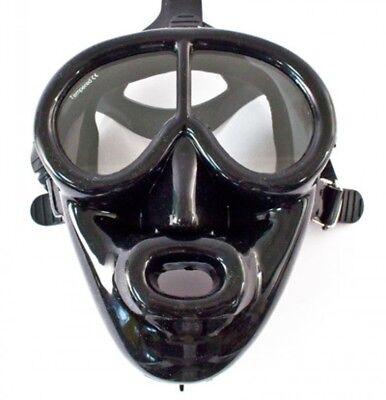 POSEIDON Vollgesichtsmaske schwarz - Silikon - mit Nasenerker für Druckausgleich