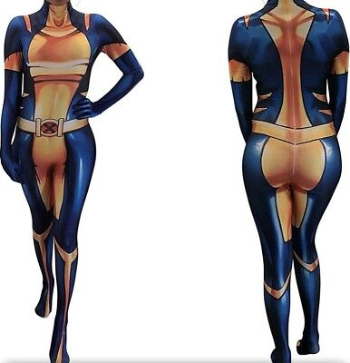Marvel Lady Wolverine X23 Cosplay Costume Latex Morphsuit Laura Logan