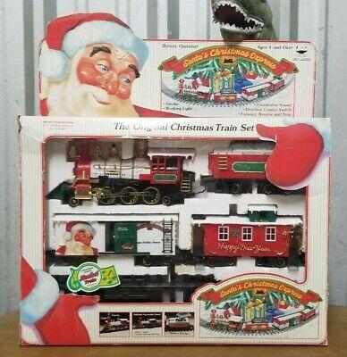 Rare Vintage New Bright Santa's Christmas Express Train Set