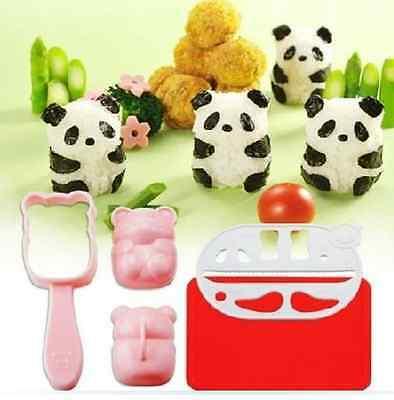 Rice Ball Mold Nori Punch Sushi Panda Shape Bento Accessories School Lunches New