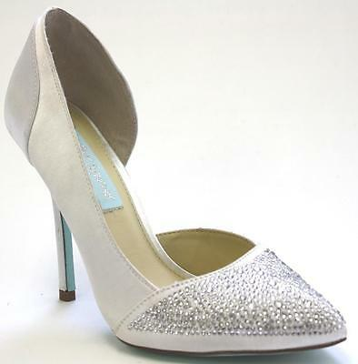 Women's Shoes Blue by Betsey Johnson BAND Special Occasion Rhinestones IVORY - Blue Occasion Shoes