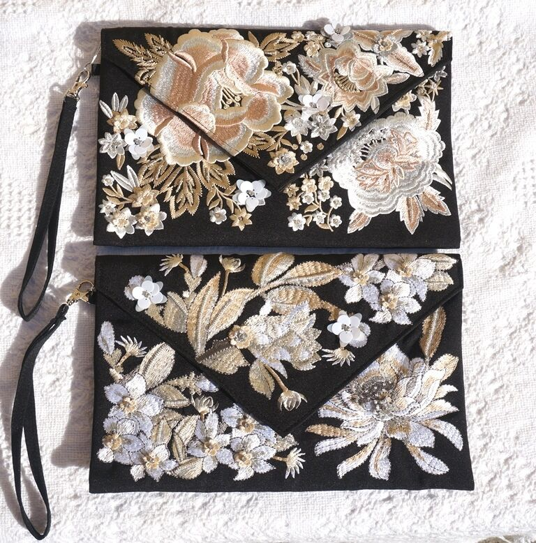 clearance sale embroidered floral vintage clutch purse
