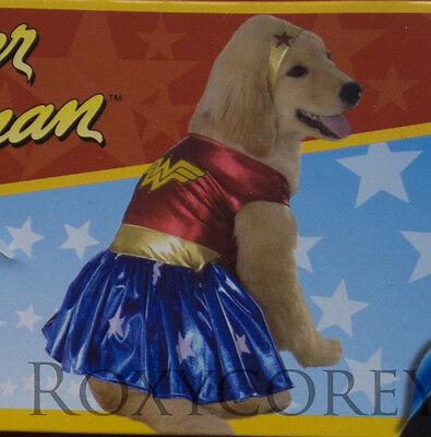 Rubies Wonder Woman Girl Dress Pet Dog Costume Size Small NWT