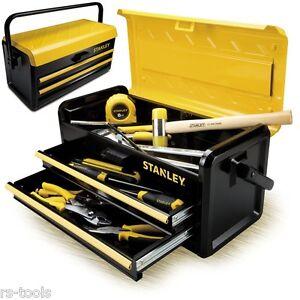 Stanley Metall Werkzeugkasten Werkzeug-Koffer Werkzeug-Kiste 2 Schubladen Box