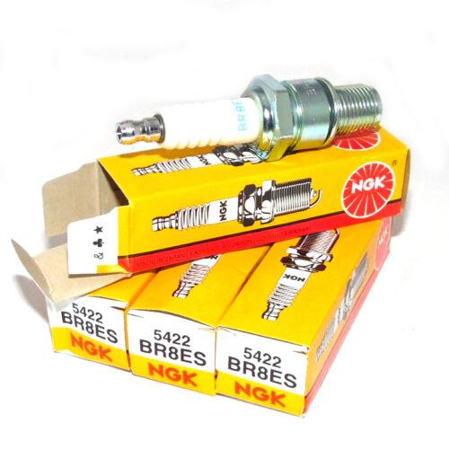 4Pk NGK BR8ES Spark Plugs THREADED TERMINAL