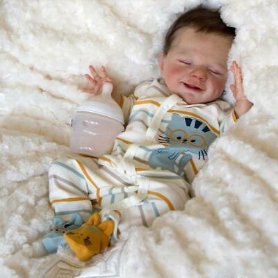 "20"" Realistic Newborn Baby Soft Full Body Silicone Reborn Dolls Christmas Gift"