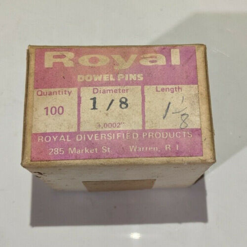 """Pack of 100 - 1/8"""" x 1-1/8"""" Royal Dowel Pins Alloy Steel"""