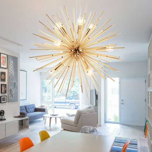 "22"" Modern Sputnik Chandelier Light Fixture 8 LED Ceiling Li"