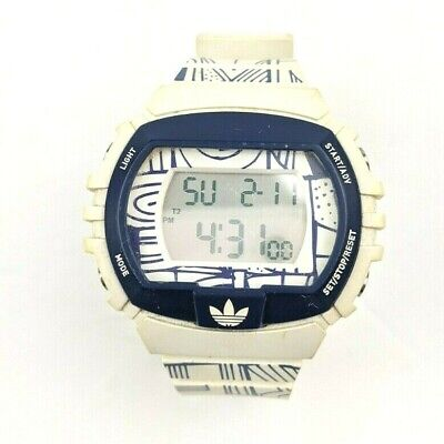 Mens ADIDAS Originals Sport Watch Limited Edition Sketch Style Blue White