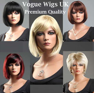 Short-Ladies-Wig-Black-Brown-Blonde-Red-Wigs-Classic-Romantic-Bob-Style-Wigs
