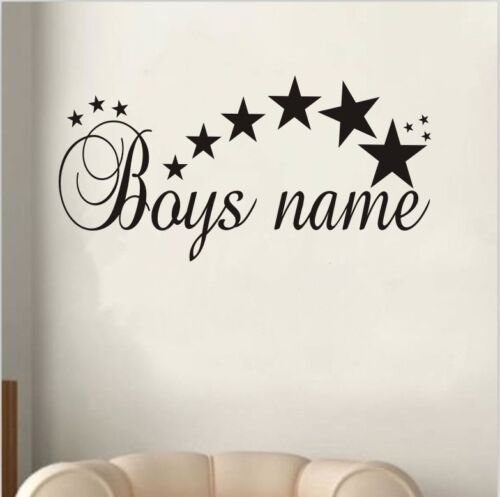 Customized Stars Name Vinyl Wall Sticker Art Decal Boys Bedroom Wall Stickers