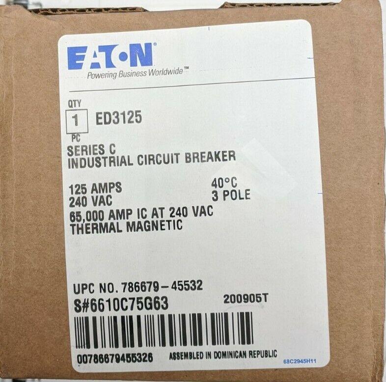 NEW EATON ED3125 CIRCUIT BREAKER
