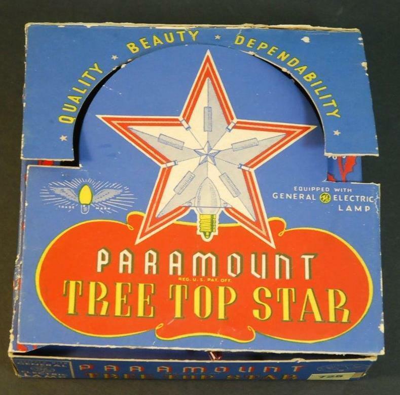 Vintage GE Paramount Star Christmas Lite Tree Topper Star