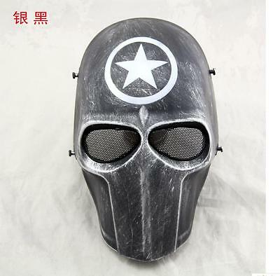 Outdoor Tactical Gear Airsoft Paintball Full Face Protection Cacique Mask D
