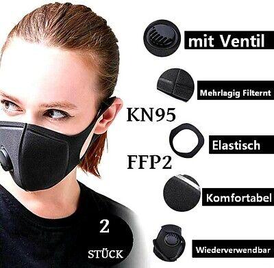 KN95 FFP 2 PM2.5 Atemschutz Gesichtsmaske Mundschutz Staub Wiederverwendbar
