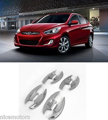 Chrome Door Bowl Molding Cover 4DR 5DR For Hyundai Accent Solaris 2011 2016