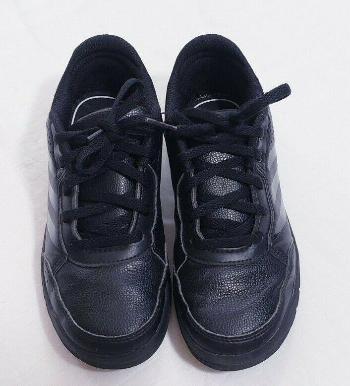 Adidas Girls Shoes Size 1K Non-Marking Eco Ortholite Black Sneakers
