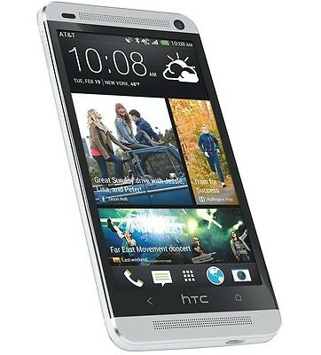 4.7'' NEW HTC One M7 32GB (Unlocked) GSM 3G Android Mobile Phone - Silver