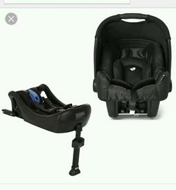 Baby car seat and base.