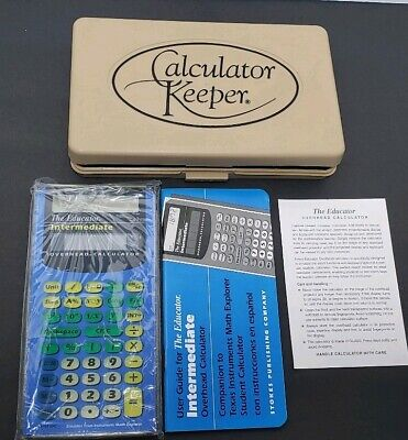 Vintage 1997 The Educator Intermsdiate Overhead Projector Calculator New Wcase
