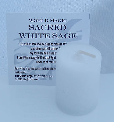 Sacred White Sage candle - Coventry Creations Purify and Bless Cleansing Votive