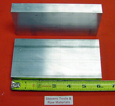 2 Pieces 12 X 4 Aluminum 6061 T6511 Flat Bar 6 Long .500 Solid Mill Stock
