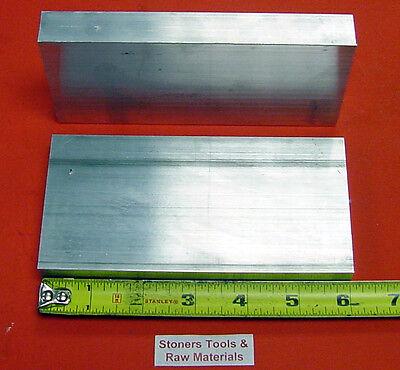 2 Pieces 34 X 3 Aluminum 6061 Flat Bar 6 Long .750 Plate New Mill Stock