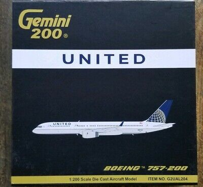 """Airplane United  Airlines Boeing B757-200 Post Merger Wood 19/"""" Model Aircraft"""