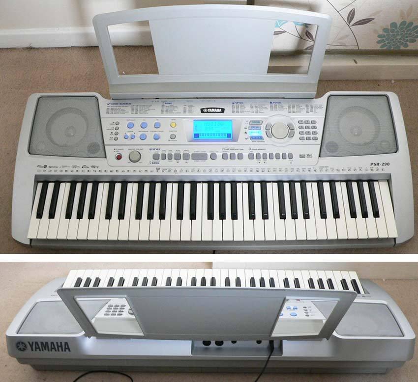 Yamaha psr 290 keyboard electronic piano with 5 octaves for Yamaha piano keyboard 61 key psr 180