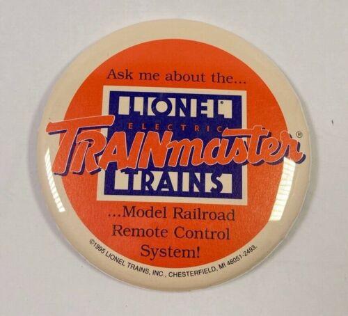 "1995 Lionel Electric Trains Trainmaster Button Pinback Pin Diameter 3 1/2"""