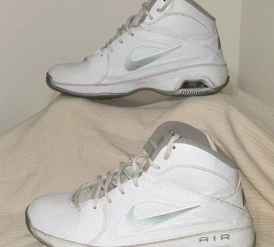 df967672a570 NIKE AIR Women Basketball Shoes 525747-101 White Gray Size 7.5