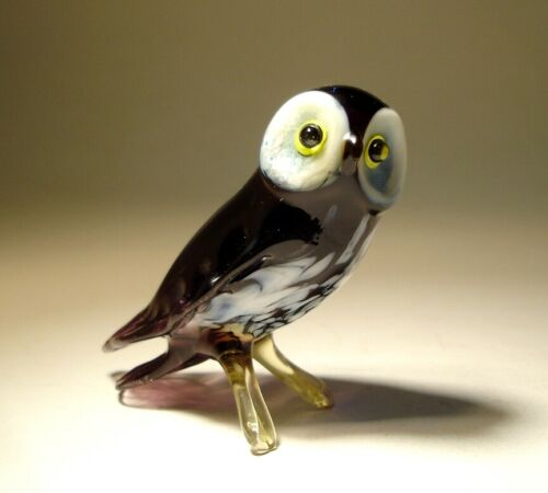 Blown Glass Figurine Art Bird OWL