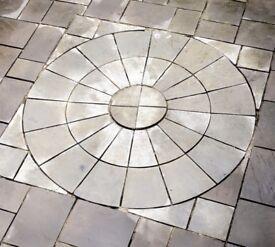Paving slabs full circle (square kit)