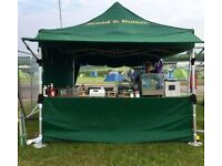 Mobile Catering Marquee & Griddle x2 & Bain Marie