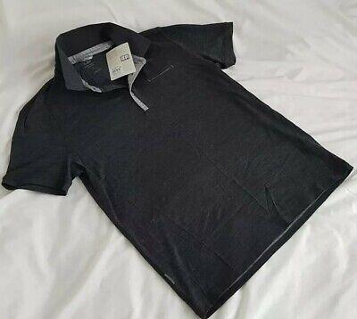 Icebreaker Men's Quattro Short Sleeve Polo Size Medium - Jet/Heather - RRP £75