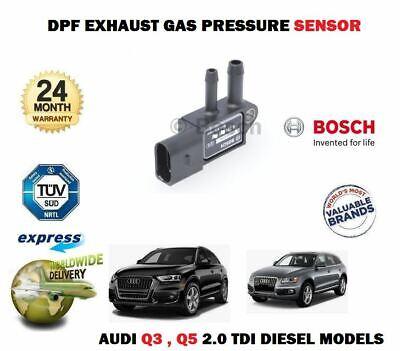 FOR AUDI Q3 Q5 2.0 TDI + QUATTRO 2010-2017 NEW DPF EXHAUST PRESSURE SENSOR