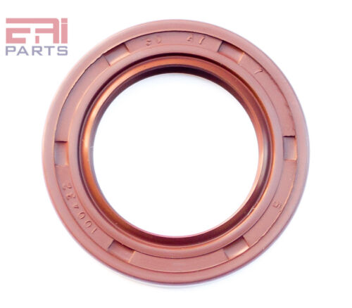 EAI Viton Oil Shaft Seal 30x47x7mm Grease Dbl Lip w/ Stainless Steel Spring
