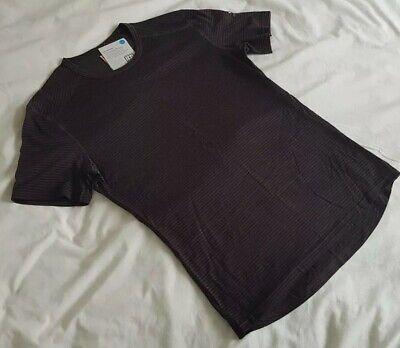 MEN'S ICEBREAKER Oasis MERINO T SHIRT - Medium - RRP £65 - Walnut Brown Stripe.