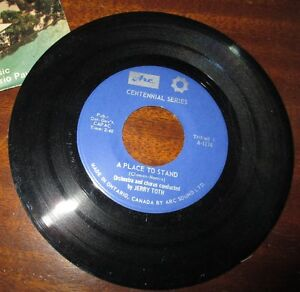 Vinyl Record - Here's an old 45 - A Place to Stand