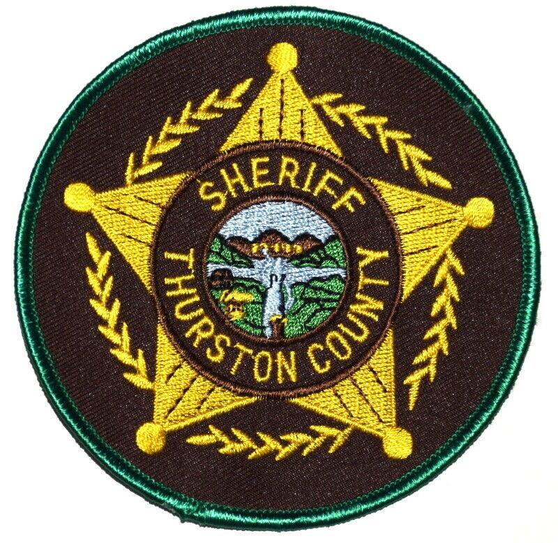 THURSTON COUNTY NEBRASKA NE Sheriff Police Patch CITY LOGO RIVERS STAR ~