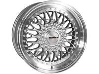 For Sale: Calibre Vintage 18″ Silver or Black/Silver Alloy Wheels for VW Transporter T4