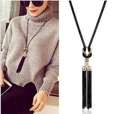 Fashion Women Pendant Statement Gold Collar Choker Chunky Long Necklace Chain