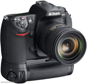 Nikon DSLR with lenses and more.